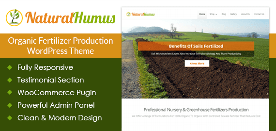 Organic Fertilizer Production WordPress Theme