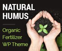 Natural Humus - Organic Fertilizer Production WordPress Theme & Template