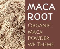 Maca Root - Organic Maca Powder WordPress Theme & Template