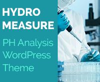 Hydro Measure - PH Analysis WordPress Theme & Template