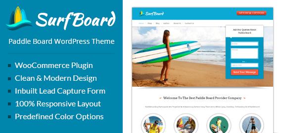 Paddle Board WordPress Theme & Template