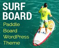 Surf Board - Paddle Board WordPress Theme & Template