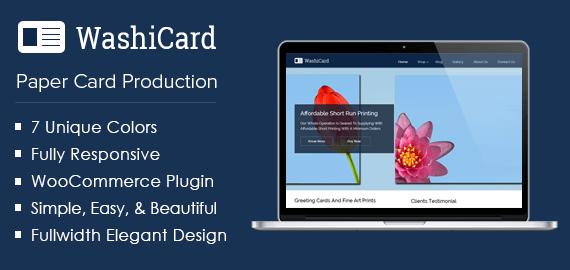 [WashiCard] Paper Card Production WordPress Theme