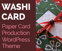 Washi Card - Paper Card Production WordPress Theme & Template