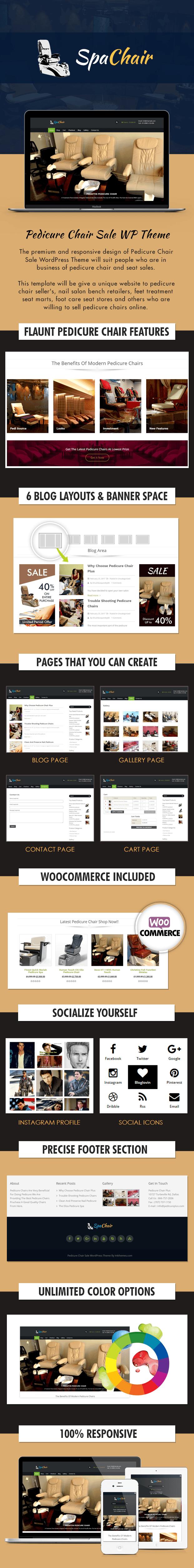 Pedicure Chair Sale WordPress Theme