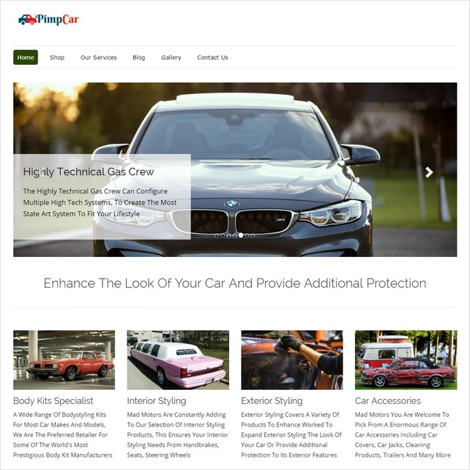 PimpCar WP theme