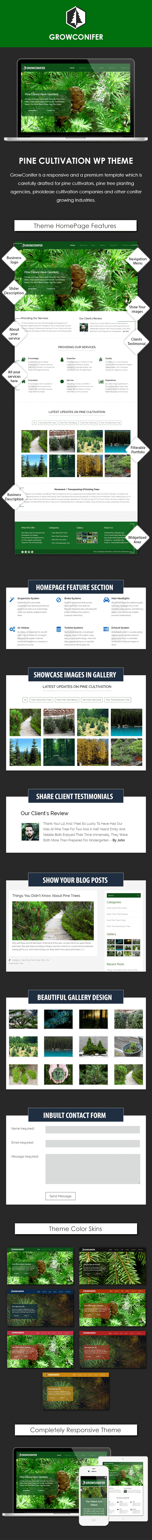 Pine Cultivation WordPress Theme