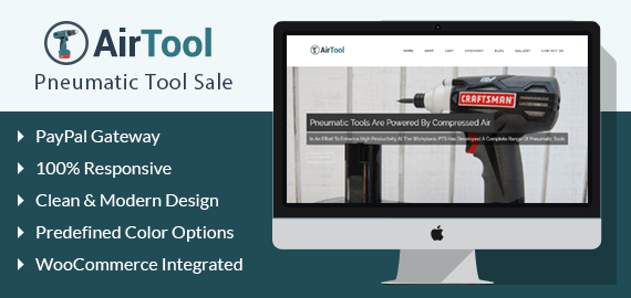 Pneumatic Tool Sale WordPress Theme