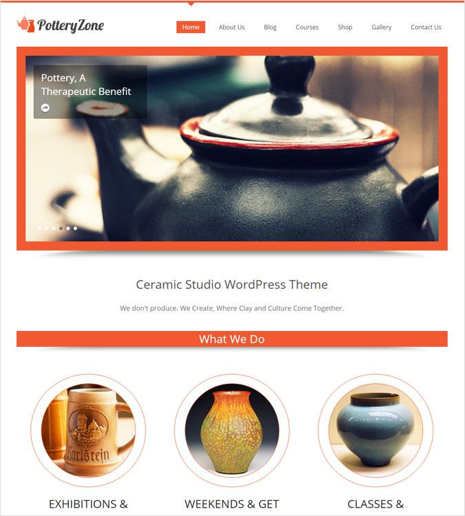 PotteryZone WP theme