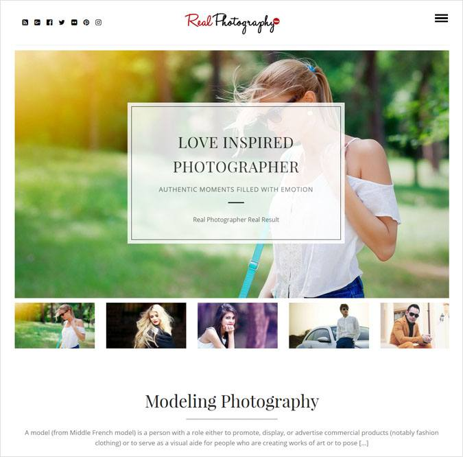 RealPhptoGraphy WP Theme