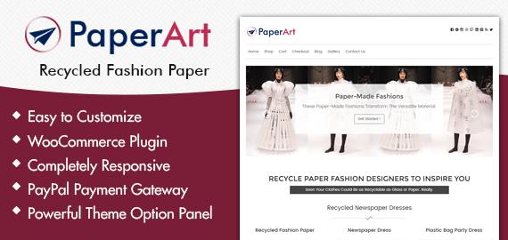 {PaperArt} Recycled Fashion Paper WordPress Theme