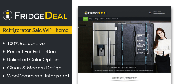 Refrigerator Sale WordPress Theme