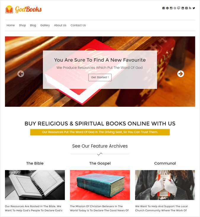 Religious Books Sale WordPress Theme
