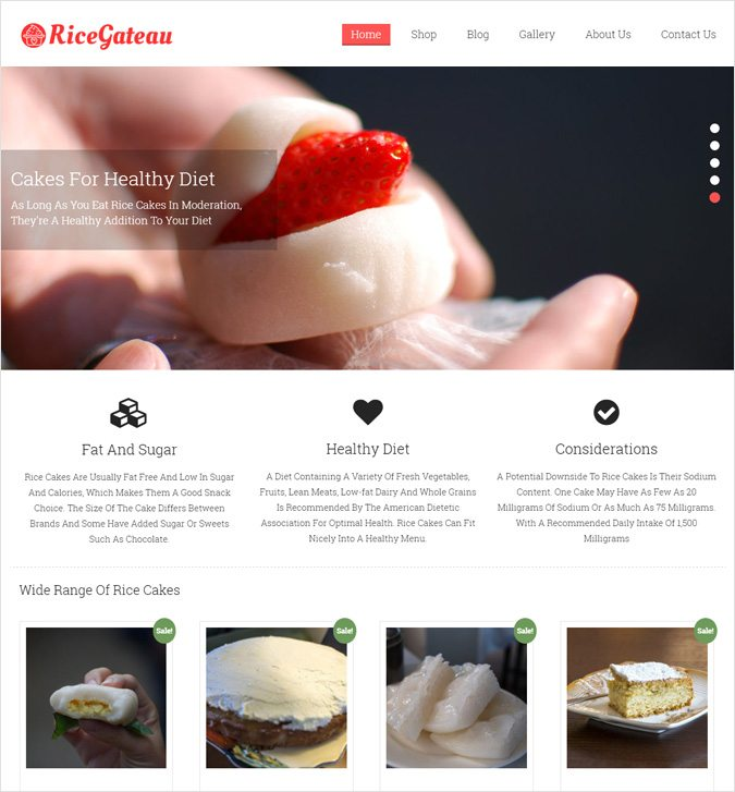 RiceGateau WP theme