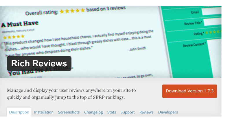 Rich reviews plugin