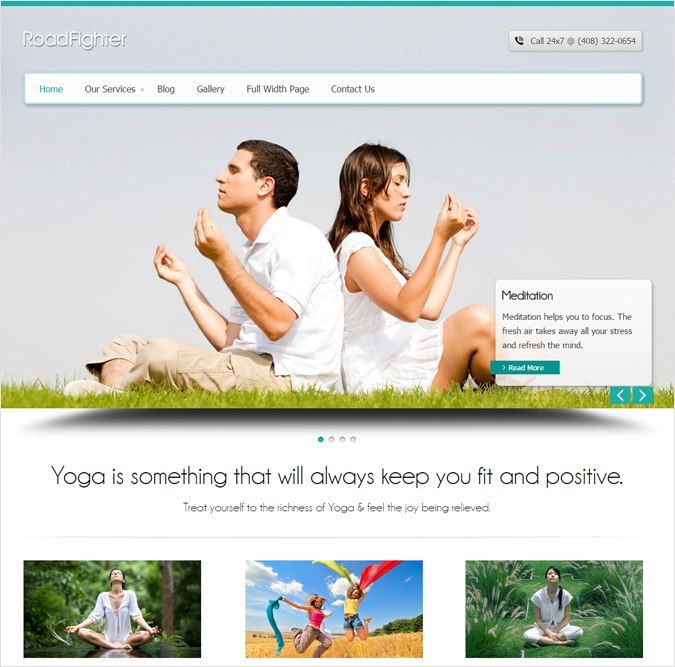 RoadFighter WordPress Theme