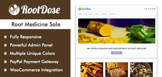 Root Medicine Sale WordPress Theme
