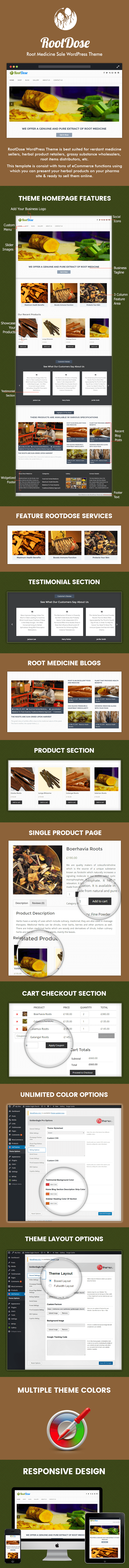 Root Medicine Sale WordPress Theme