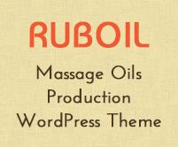 Rub Oil - Massage Oils Production WordPress Theme & Template