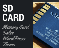 SD Card - Memory Card Sales WordPress Theme & Template