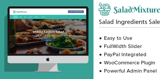 Salad Mixture – Salad Ingredients Sale WordPress Theme