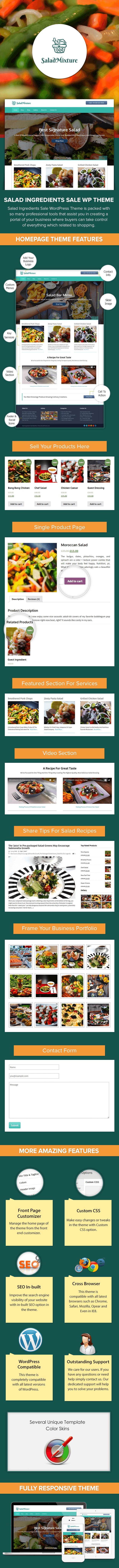 Salad Ingredients Sale WP Theme