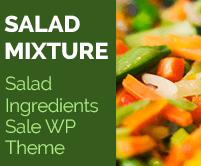 Salad Mixture - Salad Ingredients Sale WordPress Theme & Template