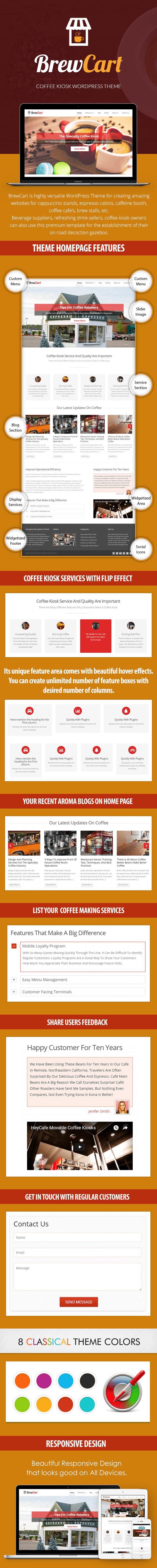 Coffee Kiosk WordPress Theme