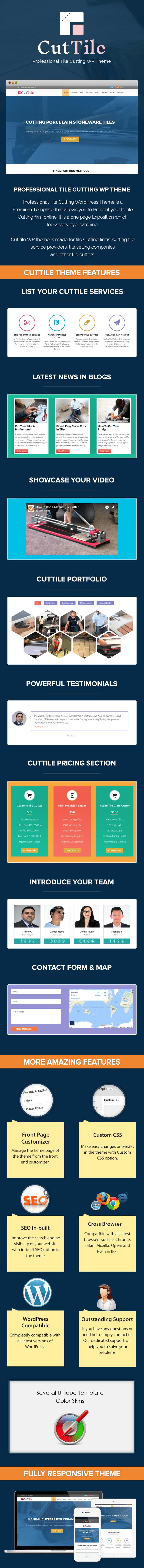 Professional Tile Cutting WordPress Theme