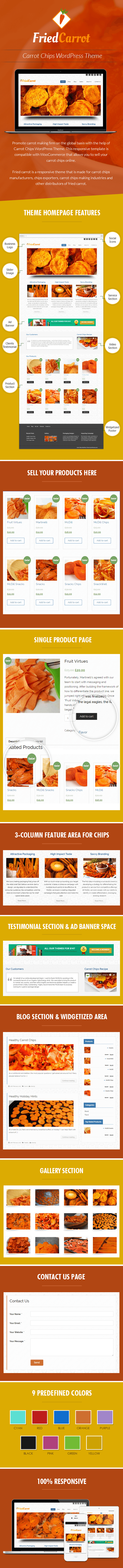 Carrot Chips WordPress Theme