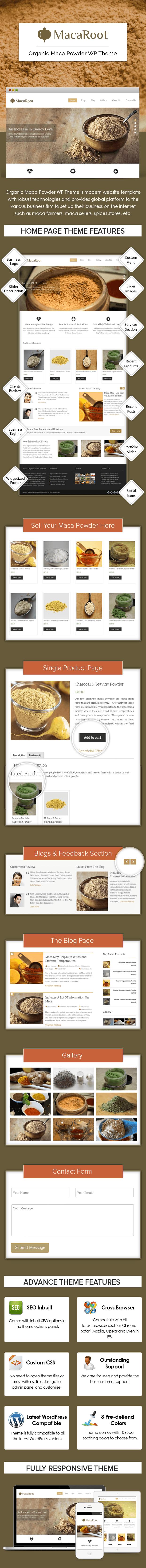 Organic Maca Powder WordPress Theme