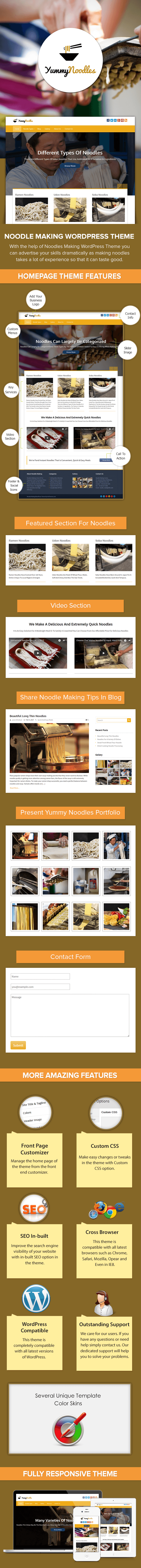 Noodle Making WordPress Theme