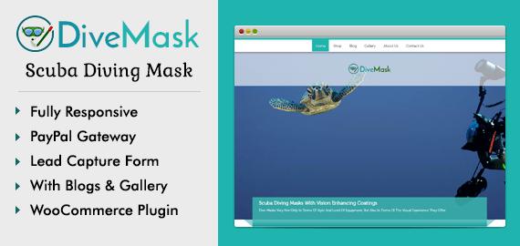 Scuba Diving Mask WordPress Theme