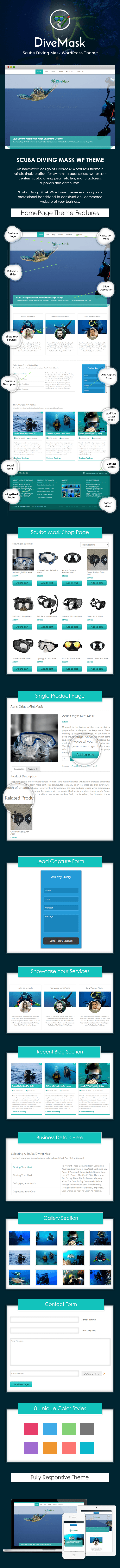 Scuba Diving Mask WP Theme