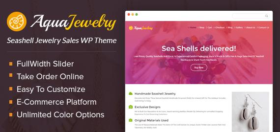 Seashell Jewelry Sales Ecommerce WordPress Theme