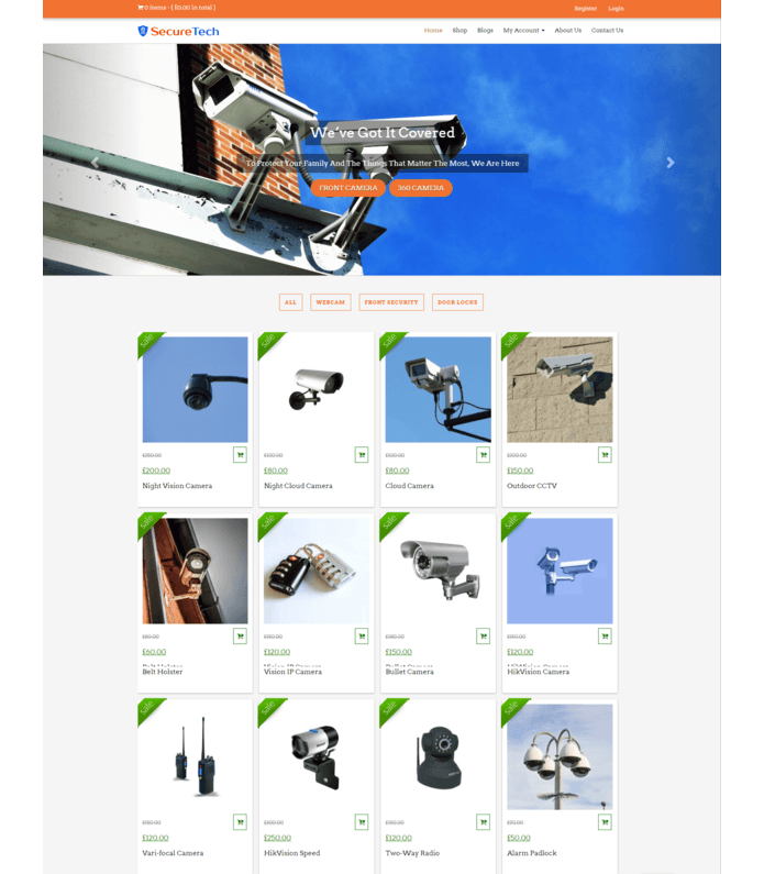 Security Gadget Sales WordPress Theme