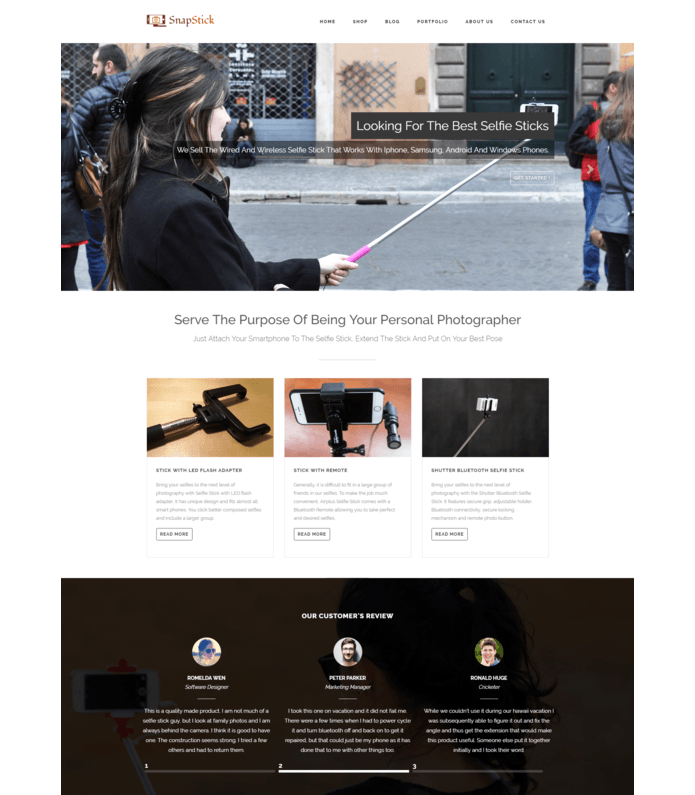 Selfie Stick Sale WordPress Theme
