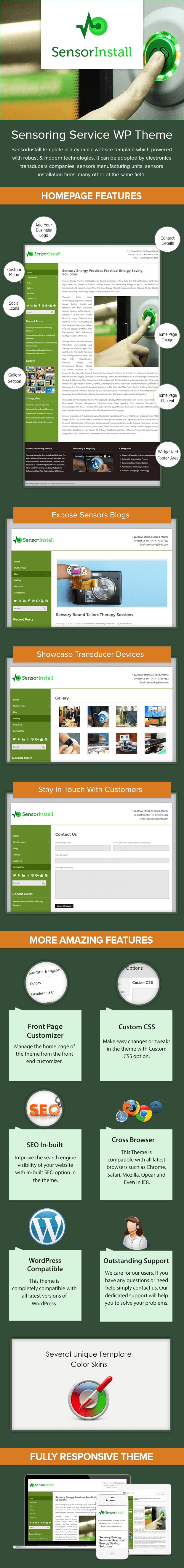 Sensoring Service WordPress Theme Sales