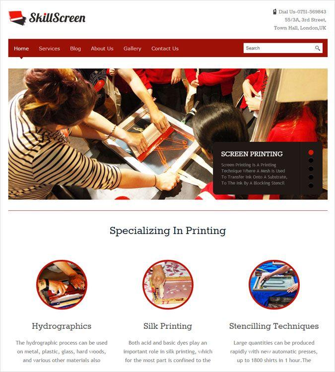 SkillScreen WP theme