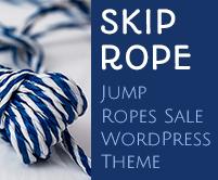 Skip Rope - Jump Ropes Sale WordPress Theme & Template