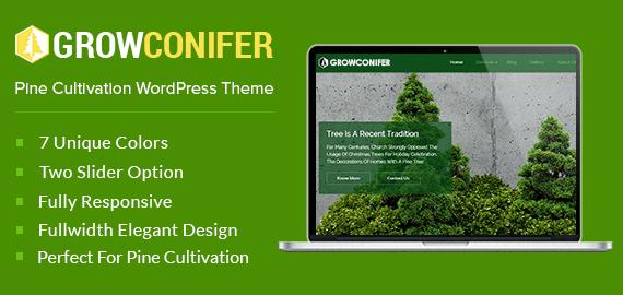 Pine Cultivation WordPress Theme