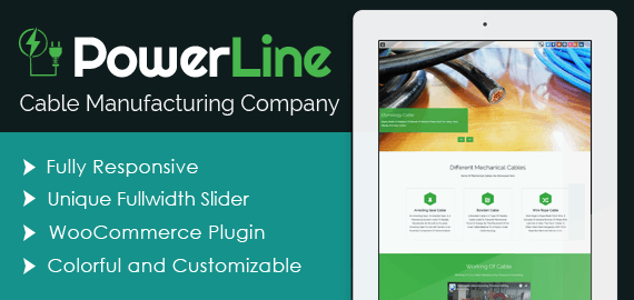 PowerLine – Cable Manufacturing Company WordPress Theme