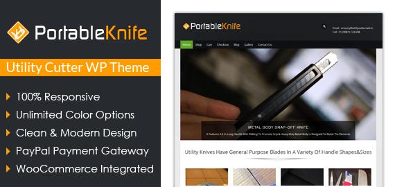 Portable Knife – Utility Cutter Sale WordPress Theme
