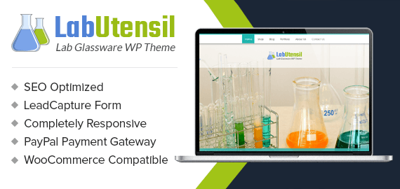 Lab Glassware Sales WordPress Theme
