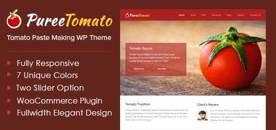 Puree Tomato – Tomato Paste Making WordPress Theme