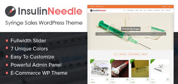 Syringe Sales WordPress Theme