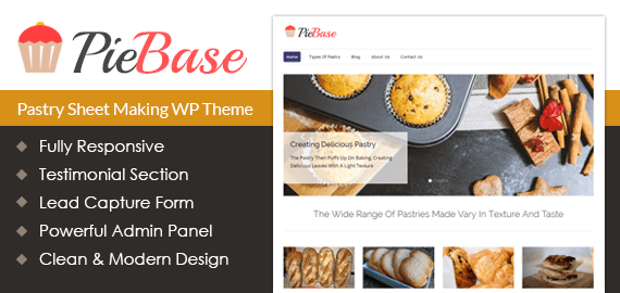 Pastry Sheet Making WordPress Theme