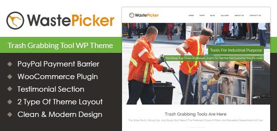 Waste Picker – Trash Tools Sale WordPress Theme