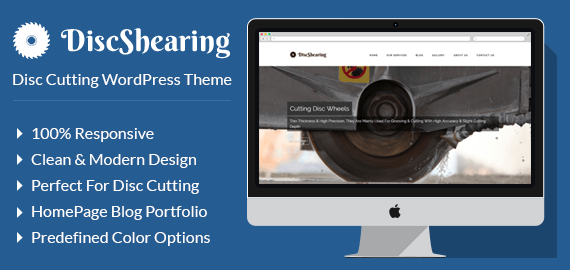Disc Cutting WordPress Theme & Template