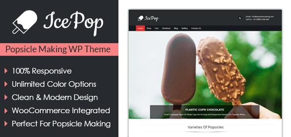 Popsicle Making WordPress Theme
